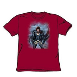 Heavy Metal - Biz 6 - Adult Cardinal S/S T-Shirt For Men