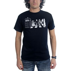 Dr. Who - Mens Street Crossing T-Shirt in Navy