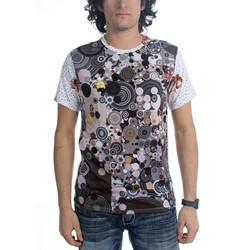 Imaginary Foundation - Mens Concentric vs Floral Dot T-Shirt