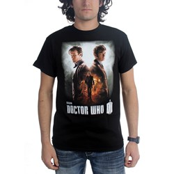Dr. Who - Mens Day Of The Doctor Poster T-Shirt in Black