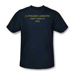 Dyslexic Agnostic - Mens T-Shirt In Navy
