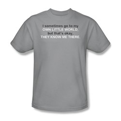 My Own Little World - Mens T-Shirt In Silver
