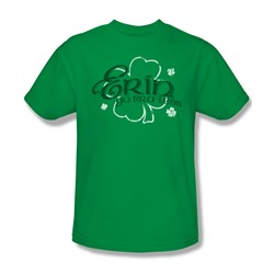 Erin Go Braless - Mens T-Shirt In Kelly Green