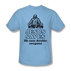 Jesus Saves - Mens T-Shirt In Light Blue