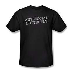 Antisocial Butterfly - Mens T-Shirt In Black