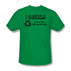 I Recycle - Mens T-Shirt In Kelly Green