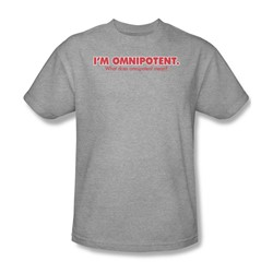 Omnipotent - Mens T-Shirt In Heather