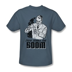 Here Comes The Boom - Mens T-Shirt In Slate