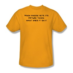 Cheese Picture - Mens T-Shirt In Gold