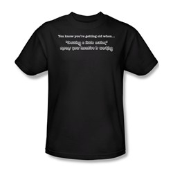 Getting Old Getting Action - Mens T-Shirt In Black
