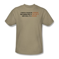 A Plan So Cunning - Mens T-Shirt In Sand