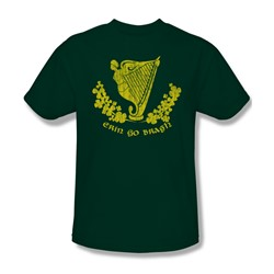 Erin Go Bragh - Mens T-Shirt In Hunter Green