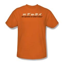 Animal Crackers - Mens T-Shirt In Orange