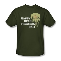 Dead Terrorist Day - Mens T-Shirt In Military Green