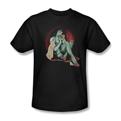 Zombie Pin Up All A Girl Wants - Mens T-Shirt In Black