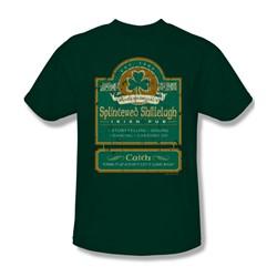 Splintered Shillelagh - Mens T-Shirt In Hunter Green