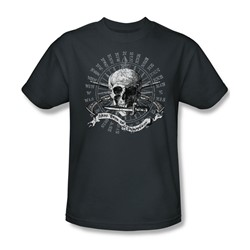 Here There Be Pirates - Mens T-Shirt In Charcoal
