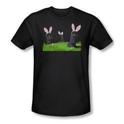 Easter Island - Mens Slim Fit T-Shirt In Black