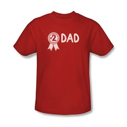 #2 Dad - Mens T-Shirt In Red