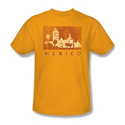 Mexico - Mens T-Shirt In Gold