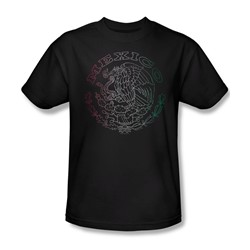 Mexico Flag Logo - Mens T-Shirt In Coffee