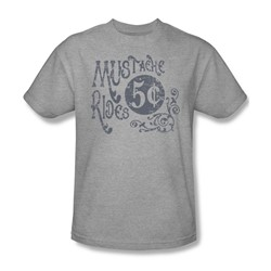 Mustache Rides - Mens T-Shirt In Heather