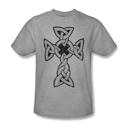 Knotted Celtic Cross - Mens T-Shirt In Heather