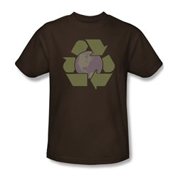 Recycle Earth - Mens T-Shirt In Coffee