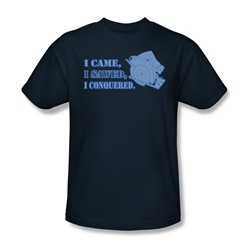 I Came I Sawed - Mens T-Shirt In Navy