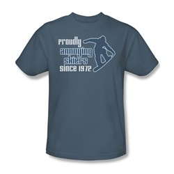 Proudly Annonying Skiers - Mens T-Shirt In Slate
