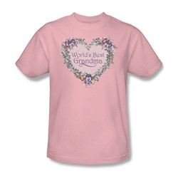 Worlds Best Grandma - Mens T-Shirt In Pink