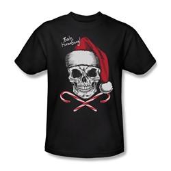 Skull Bah Humbug - Mens T-Shirt In Black