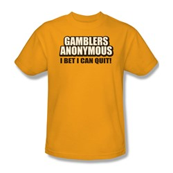 Gamblers Anonymous - Mens T-Shirt In Gold