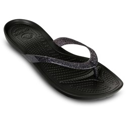 crocs sparkle flip flops
