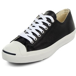 Jack Purcell Black/White Leather Low Top Shoes (1S962)