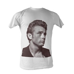 James Dean - Gold Rebel Mens T-Shirt In White