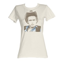 James Dean -  Icon Womens T-Shirt In Dirty White