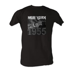 James Dean - New York 55 Mens T-Shirt In Coal