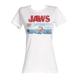 Jaws -  Island Womens T-Shirt In White