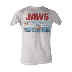 Jaws -  Island Mens T-Shirt In White