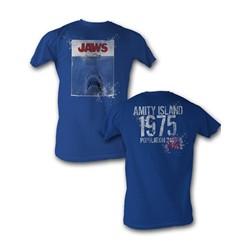 Jaws - 1975 Mens T-Shirt In Royal