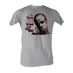 Godfather, The - Good To Be The Don Mens T-Shirt In Sivler