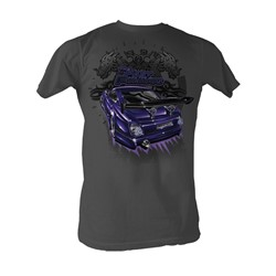 Fast & Furious - Big Purp Mens T-Shirt In Charcoal