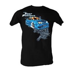 Fast & Furious - Blue Dragon Mens T-Shirt In Black