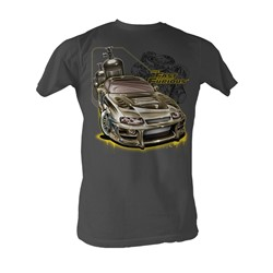 Fast & Furious - The Engine Mens T-Shirt In Charcoal