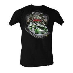 Fast & Furious - Green Dragon Mens T-Shirt In Black