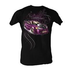 Fast & Furious - Purple Car Mens T-Shirt In Black