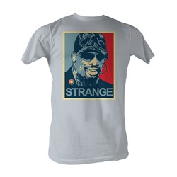 Dennis Rodman - Strange Mens T-Shirt In Silver