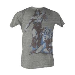 Conan The Barbarian - Conan Vintage Mens T-Shirt In Gray Heather