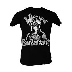 Conan The Barbarian - Whos Your Barbarian? Mens T-Shirt In Black